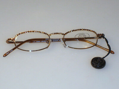 cfe918907ae Jimmy Crystal New York GL180 Swarovski Reading Glasses Light Colorado Topaz  Gold