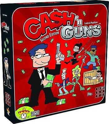 Cash 'n Guns - Second Edition Party Board Game *new And Sealed*
