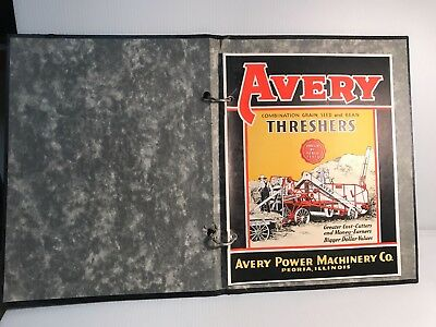 Avery Threshers CATALOG & Original Dealer's Sales & Advertising Manual Coverbook