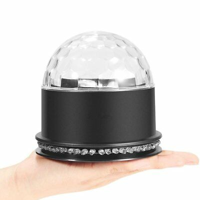 Sound Active RGB Rotating LED Stage Light Crystal Ball Disco Xmas Party
