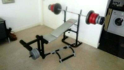 Weight bench and 56kg of weights