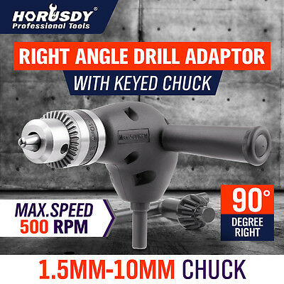 Right Angle Drill Attachment 90 Degree Handle Adaptor with keyed Chuck New