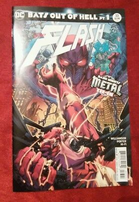 Flash #33 Variant cover Bats Out of Hell pt 1 Dark Nights Metal DC 2017 VFN