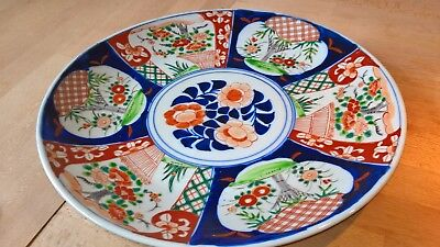 Large imari charger beautifully painted with makers mark to base