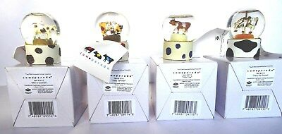 "Sets of 4 Westland Cow Parade 2 1/2"" Miniature Snow Globes - SHIPS FREE"