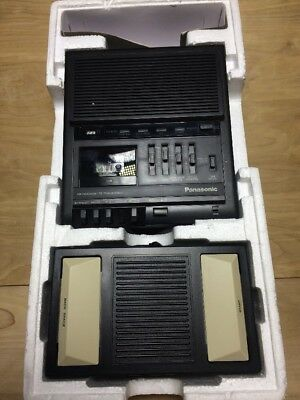 PANASONIC RR-930 MICROCASSETTE TRANSCRIBER TAPE RECORDER w/ FOOT PEDAL