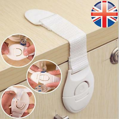 *UK Seller* 1~16X Baby Safety Drawer Door Locks Cupboard Cabinet Toddler Child