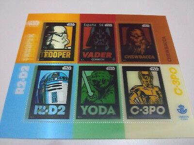Star Wars Stamp 3D Rare Anniversary Special Limited Edition Spain