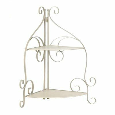 Metal Corner Shelf, Scrollwork Storage Corner Kitchen Metal Display Shelf