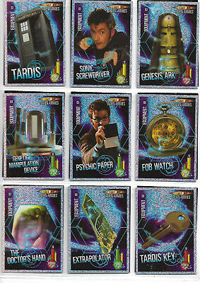 Doctor Who Alien Armies Near Complete Glitter G1 - G40 Card Set - PANINI ISSUE