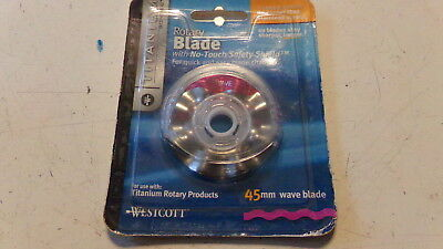 NEW Westcott Titanium Rotary Cutter Replacement Wave Blade 45mm 14014