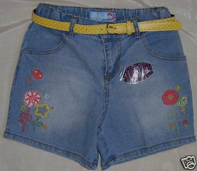 BLUE HEART JEANS Belted Shorts GIRLS Size 6 NWT $40