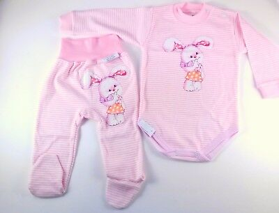 BABY GIRL 9-12 Months  18-24 Months  PINK BODYSUIT AND TROUSERS SET 100% COTTON