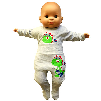 BABY BOY  0-24 Months  BODYSUIT AND TROUSERS SET DINOSAUR PRINTS 100% COTTON