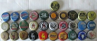 31 Different Mixed Things With Horns Themed Used Plastic Lined Beer Caps
