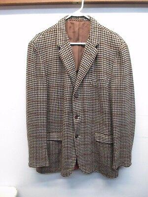 Chester Barrie Handmade in GB 100% Cashmere Men's Brown Blazer Sport Coat 45L