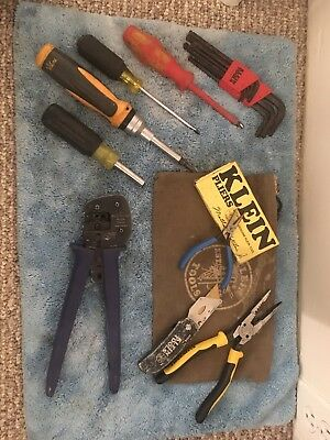 KLEIN TOOLS Electrical Tool lot crimpers, pliers, drivers, allens, knife
