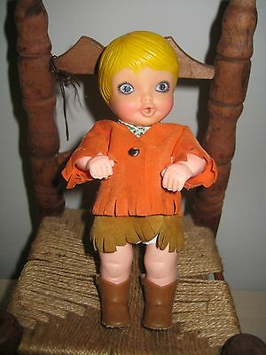 """Vintage 1972 KENNER GENERAL MILLS SIP-ALONG SUE COWBOY Doll ONLY CUTE 6.5"""""""