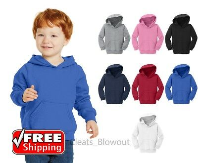 Toddler Pullover Fleece Hooded Sweatshirt Infant Sweater Plain Hoodie CAR78TH