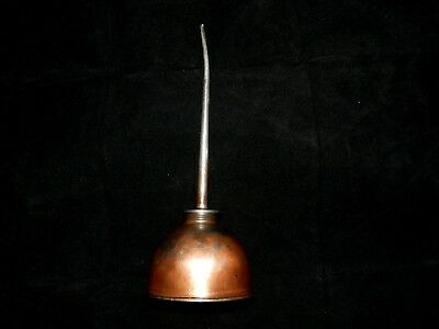 Vintage Eagle Oiler Oil Squirt Can with Long Spout and Copper Color; US Made