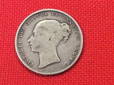 1854 Great Britain one shilling scarce coin tough date