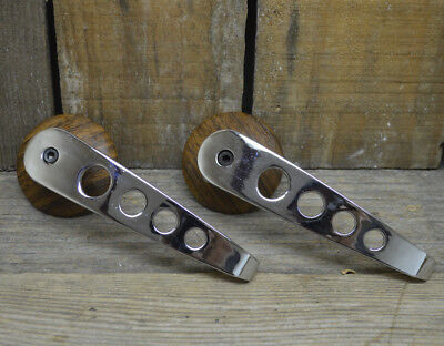 Mopar Door Handles Vtg Style Chrome Woodgrain Hot Rod Rat Van Car Pickup Truck