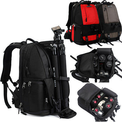 Professional DSLR SLR Camera Bag Lens Padded Bag Backpack Rucksack Travel Bag Ne