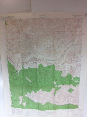 "Vintage 1943 Topographic Map Reyes Peak, Ca Quadrangle 21"" X 27"""