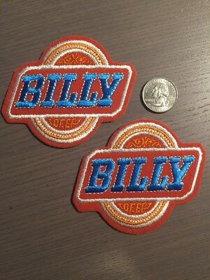 Vintage Billy Beer Patches Brewery Bar Set Of 2