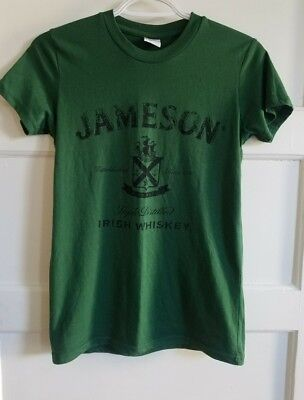 Womans Jameson Irish Whiskey T-shirt Green Size Small New - St. Patricks Day