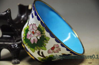 Exquisite Chinese Bronze Cloisonne Handmade Bowl -- Flowers Cz358