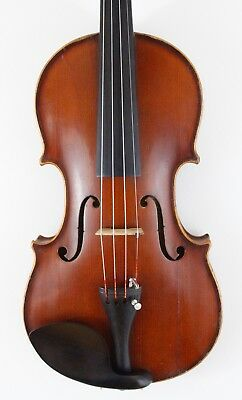 "Beautiful old antique 4/4 violin labeled and branded ""E.R. Schmidt"" 1913"