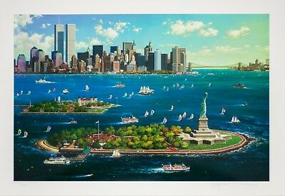"""""""New York Gateway"""" by Alexander Chen Serigraph on Paper Signed AP 174/250"""