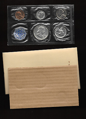 1957 United States Mint Silver Proof Set 5 Piece Flat Pack Coin Set No Spots !