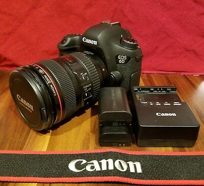 Canon EOS 6D (WG) 20.2MP Digital Camera - (W/Canon EF IS 24-105mm 1:4 USM Lens)