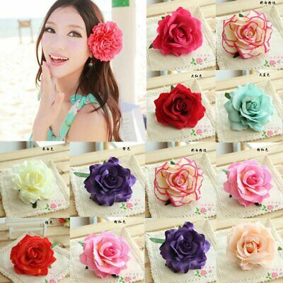 Bridal Bridesmaid Hair Clip Wedding Party Beach Women Rose Flower Hairgrip