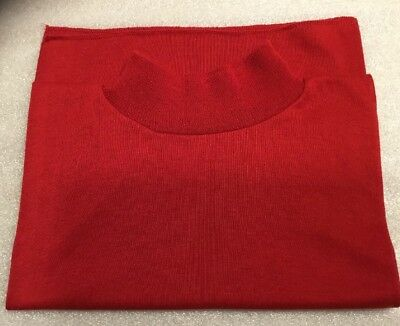 Vintage Woman'S Liz Sinclair Long Red Mock Turtleneck Knit Dickie ~ Made In 🇺🇸