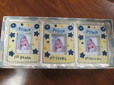 Mud pie little prince photo frame gift set