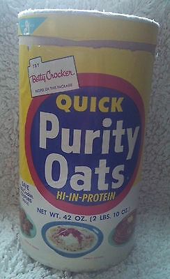 Vintage General Mills Quick Purity Oats Canister