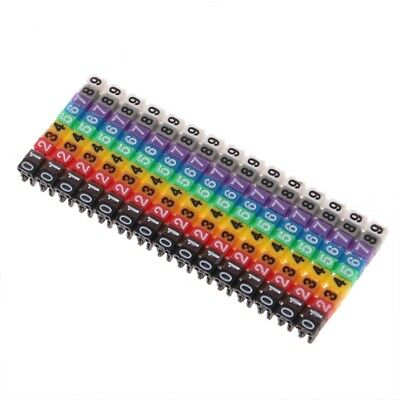 150Pcs Colourful Cable Markers C-Type Marker Number Tag Label For 2-3mm Wire