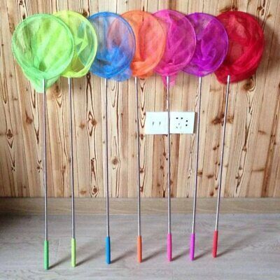 Kids Extendable Fishing Net Telescopic Handle Butterfly Insect Toy Gift