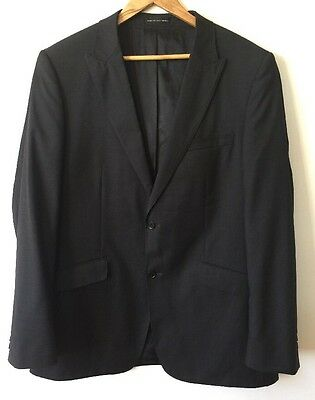 Kenneth Blake New York Suit Jacket Charcoal Size 112 LNG/100 Wool