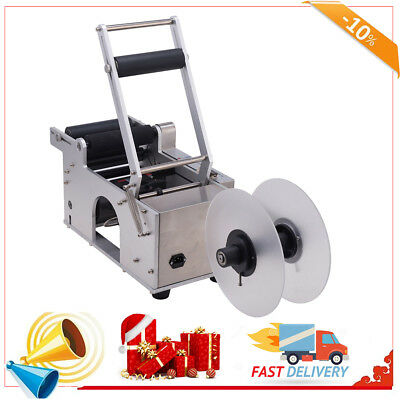 Semi-automatic Round Bottle Labeller Labeling Machine Modular Design