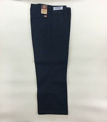 Red Kap Womens Navy Work in Motion Flat Front Pants 10X30 BD