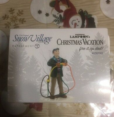 Dept 56 Snow Village Christmas Vacation Fire It Up Dad - 4030742