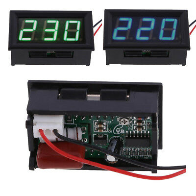 High Quality LED AC 60-500V Voltmeter Two-wire Digital Voltage Panel Meters UK