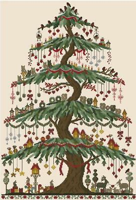 Beautiful Christmas Tree - Cross Stitch Chart - Free Postage