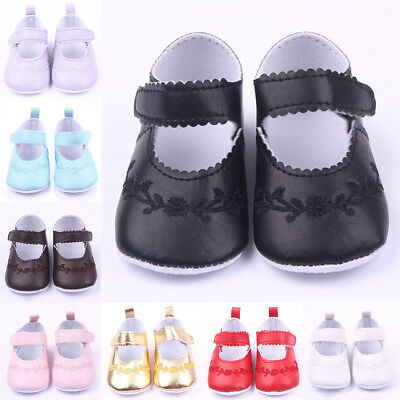 Kids Sneaker Cute Shoes Girls Newborn Flower Crib PU Leather Princess Soft Sole