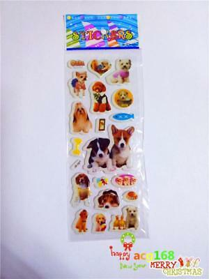 1pc Puffy Cartoon Stickers Wall Lot Craft Kid Party Animal Xmas Sticker Toy Gift