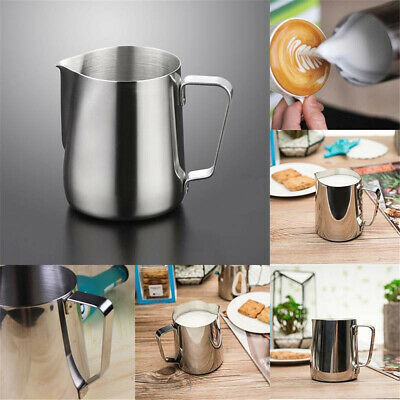 Hot!Stainless Steel Espresso Coffee Pitcher Craft Latte Milk Frothing Jug 4 Size